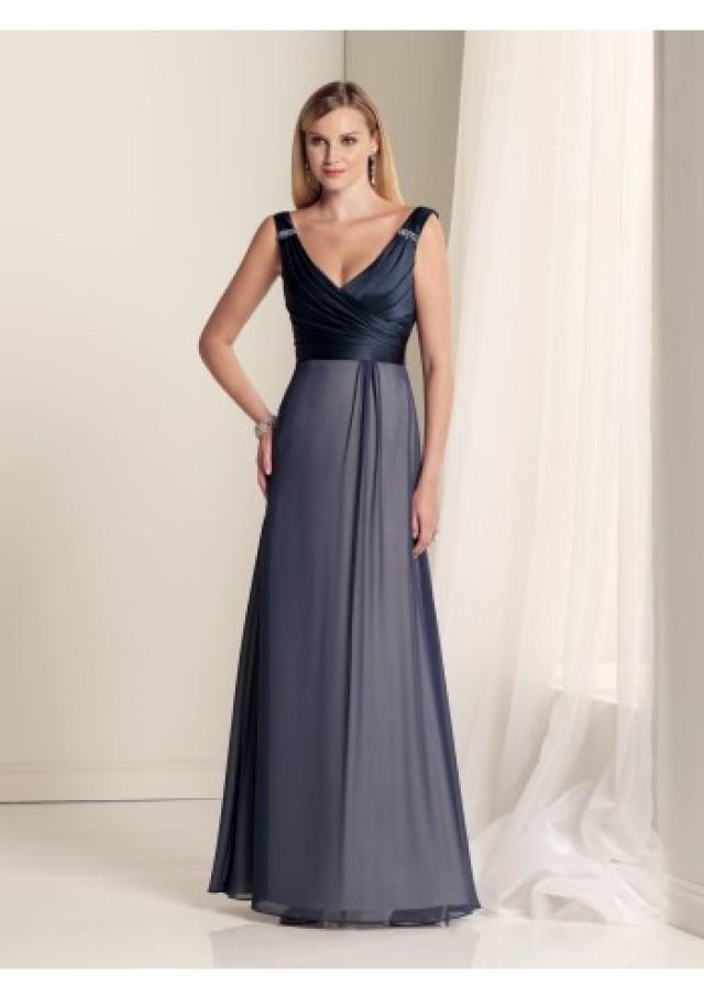 wedding photo - Sheath Column V Neck Floor Length Black Chiffon Bridesmaid Dress Adp1st0010 - Alizeedress.com