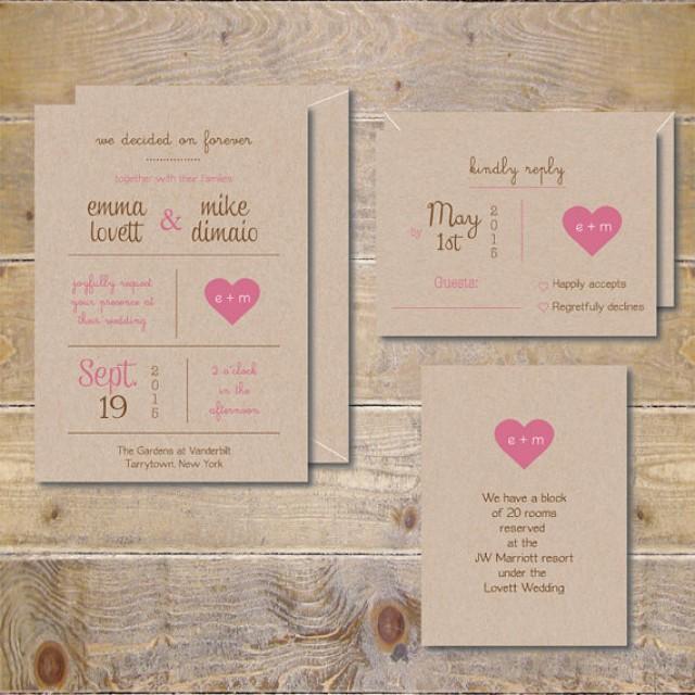 Rustic Backyard Wedding Invitations : DIY Wedding Invitations  Rustic Wedding Invitations  Outdoor Wedding