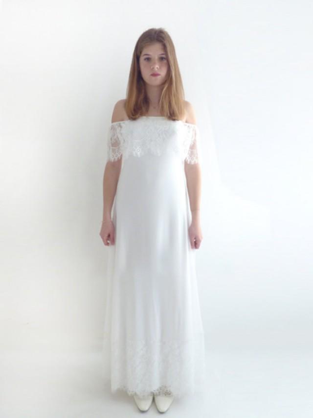 Custom Made Lace Wedding Dresses Wedding Gowns Lace Wedding Dresses Bridal Gown MEREDITH Sheath