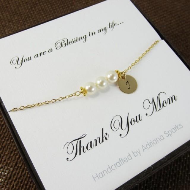 Mother Of The Bride Personalized Bracelet With Thank You