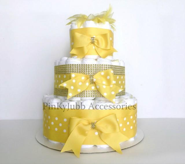 wedding photo - 3 tier diaper cake Baby Shower Gift / Baby Shower Centerpiece