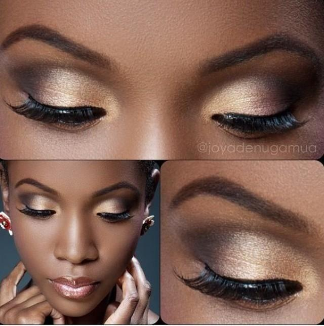 Natural makeup for black