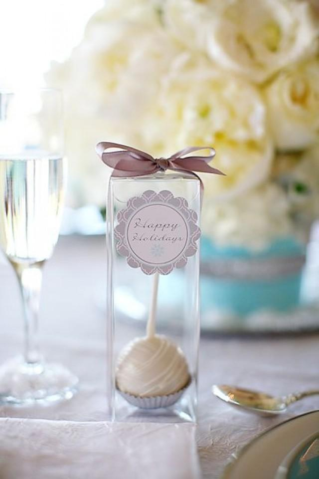Clear Cake Pop Favor Boxes