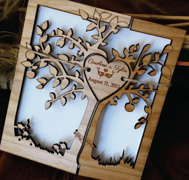 Life Of Lorin Our Wedding Tree: Tree Of Life Wedding Invitation / Wood Wedding Invitation