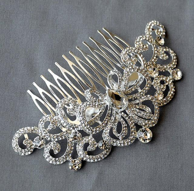 wedding photo - Bridal rhinestone shinning headpiece with a comb