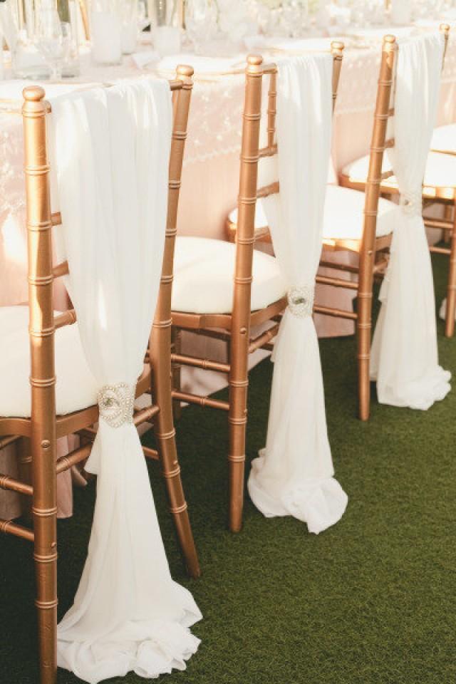 accessories new romantic chiffon drape chair sash