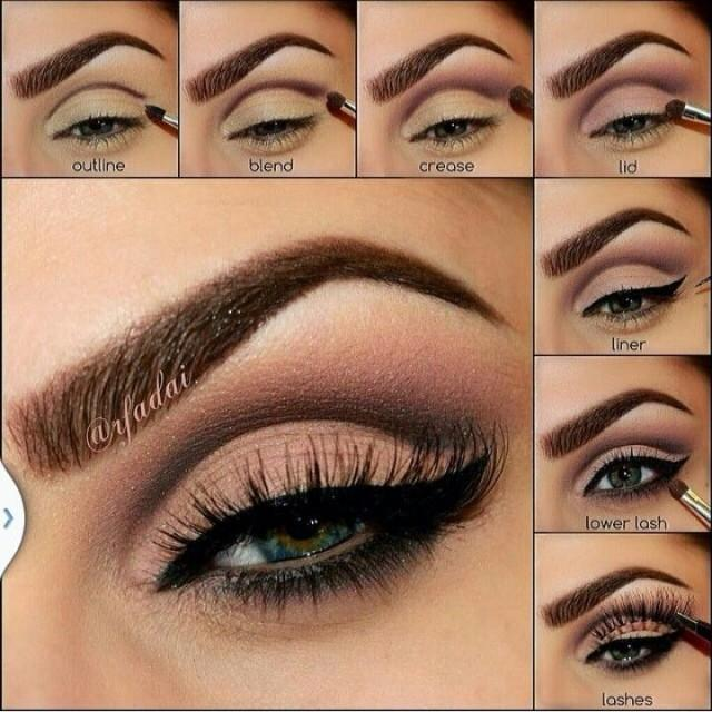 How to do eyes makeup step by step