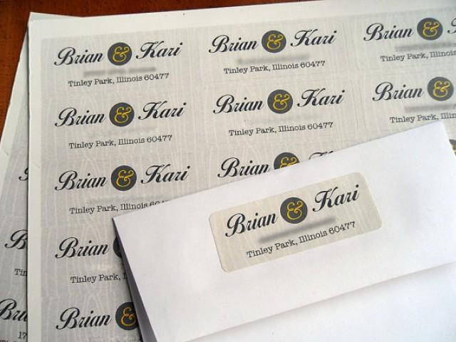 Return Labels For Wedding Invitations: Angie 120/26.00 Matching Design Return Address Labels For