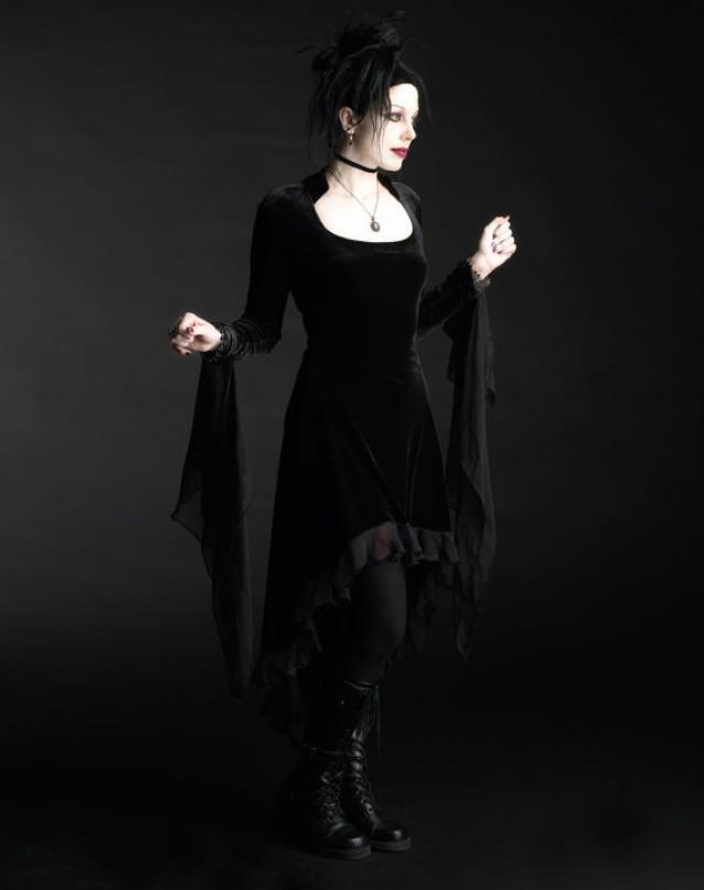 Circee fairy tale romantic wedding dress handmade to for Plus size gothic wedding dress