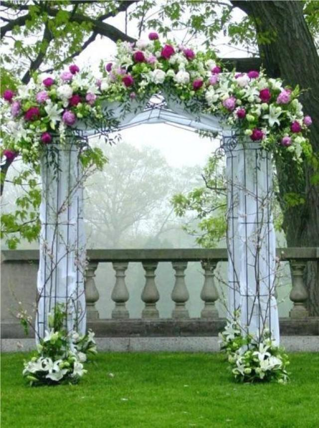 Ceremony spaces alters mandaps chuppahs 2263522 for Diy indoor wedding arch