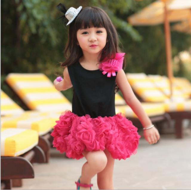 Beautiful Floral Party Dress For Baby Girls 2264688