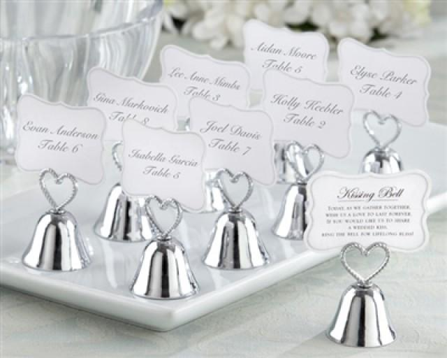 """wedding photo - """"Kissing Bell"""" Place Card/Photo Holder (Set of 24)"""