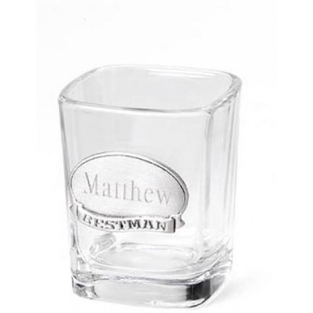 wedding photo - Pewter Medallion Shot Glass (2.25 oz.)