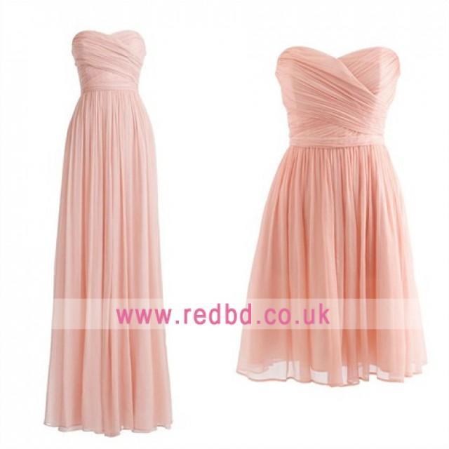 wedding photo - Pink Bridesmaid Dresses In RedBD