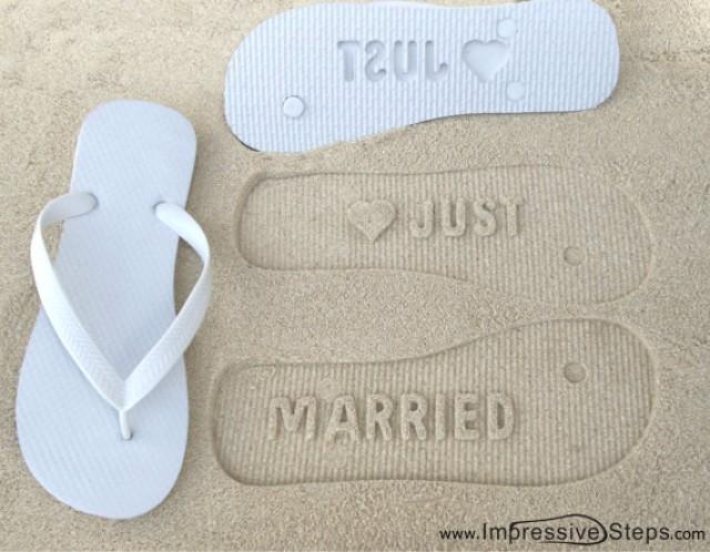 accessories just married bridal flip flops 2265898. Black Bedroom Furniture Sets. Home Design Ideas