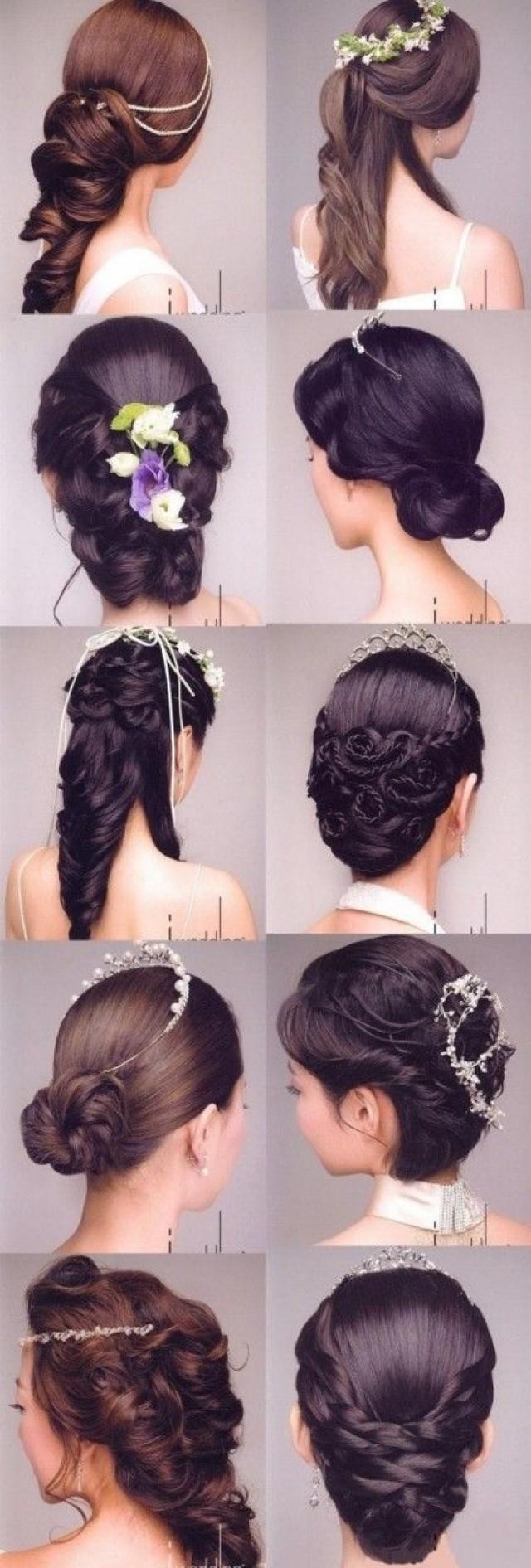 Прически на средние волосы на свадьбу к подруге фото пошагово