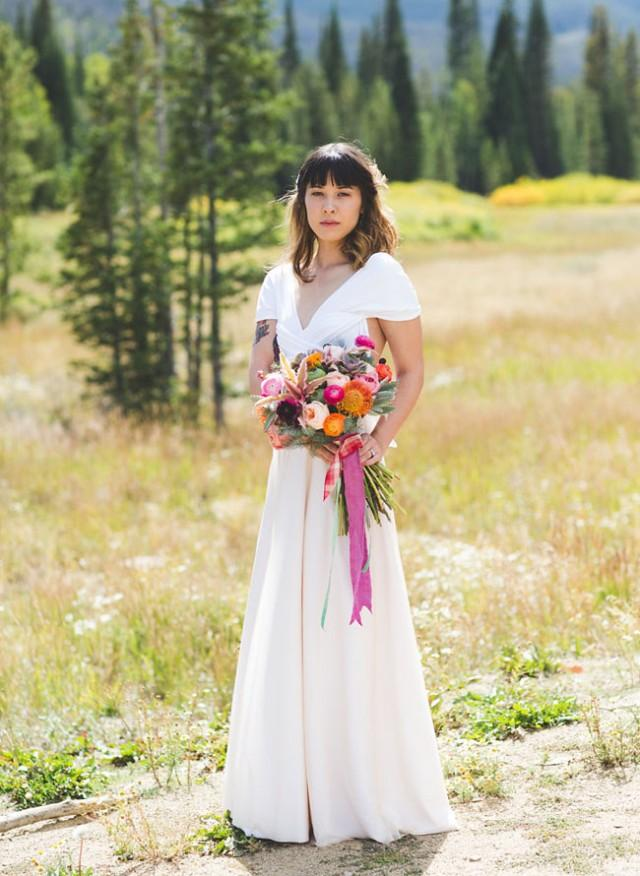 Music-Inspired Colorado Camp Wedding: Rachelle + Zach - Weddbook