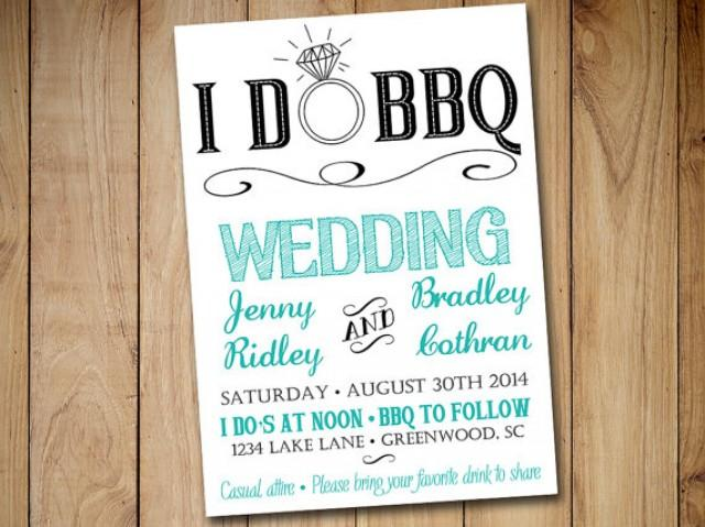 i do bbq wedding invitation template download blue teal With i do bbq wedding invitations templates