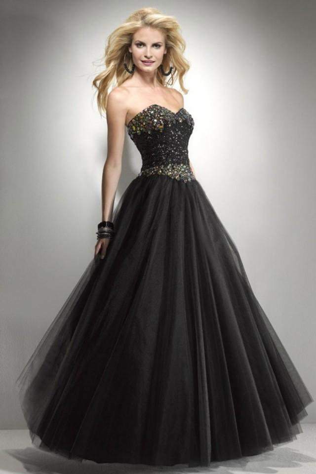 wedding photo - Princess Tulle Sweetheart Natural Waist Floor-Length Prom Dress