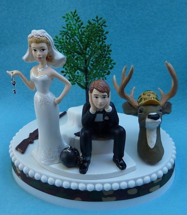Wedding Cake Topper Deer Hunting Gun Hunter Camo Themed