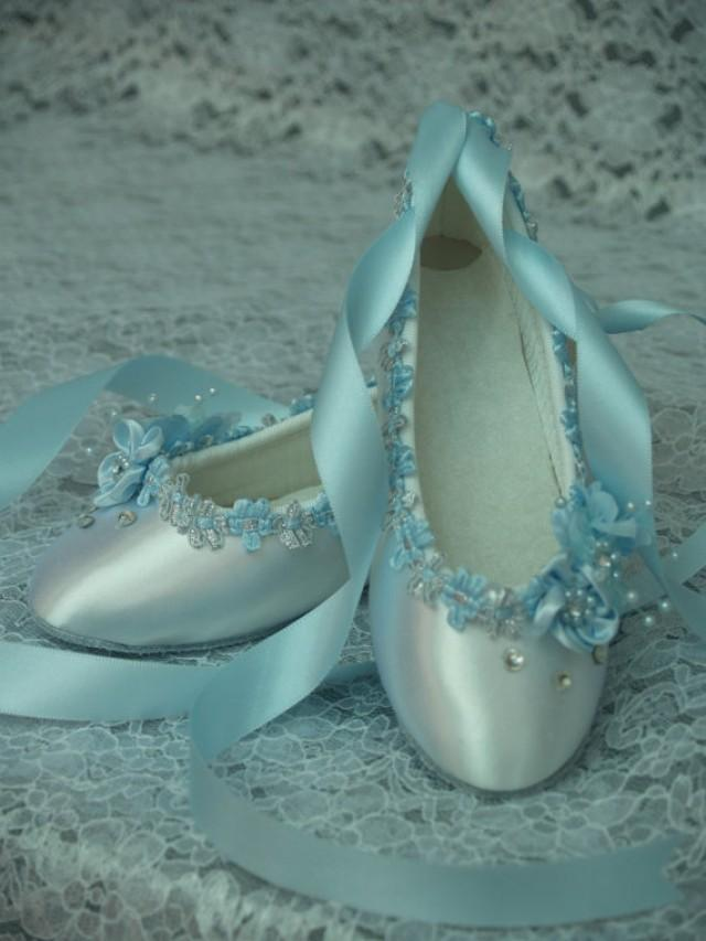 blue wedding flats white satin shoes blue bridal flat shoes 2271418
