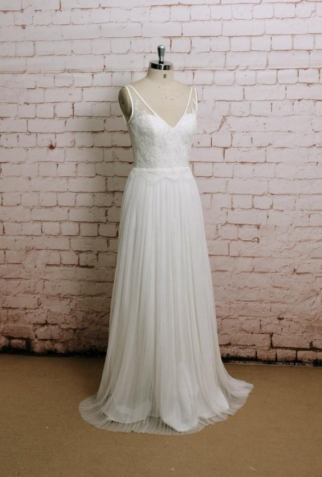 Sexy style wedding gown classic lace bridal gown with v for Ivory color wedding dress