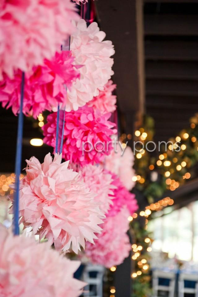 custom colors 10 tissue pom poms for baby shower birthday wedding paper