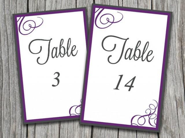 how to make table numbers in word