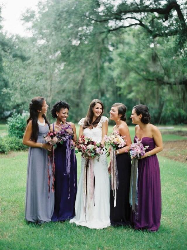 wedding photo - Plum bridesmaids