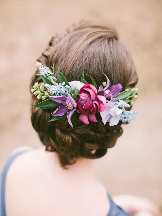 Прически с цветами в волосах мастер класс