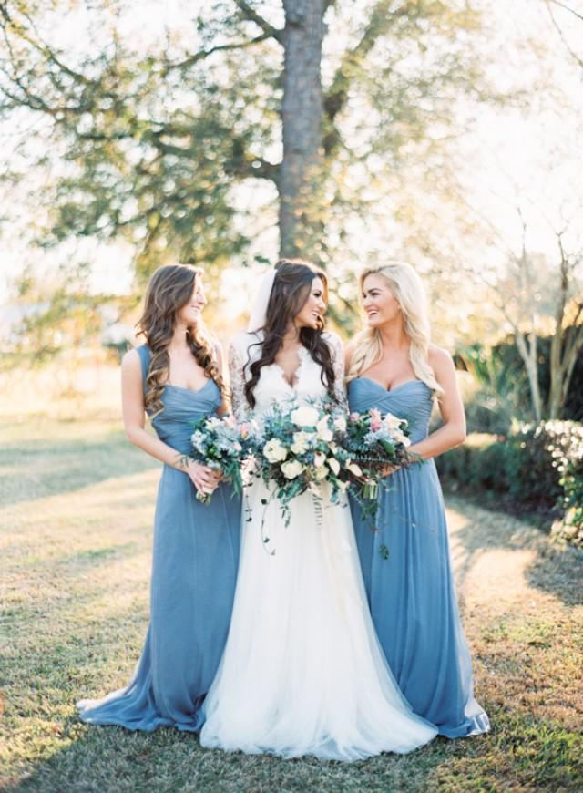 Traditional Blue And Gold New Orleans Wedding Inspiration ...