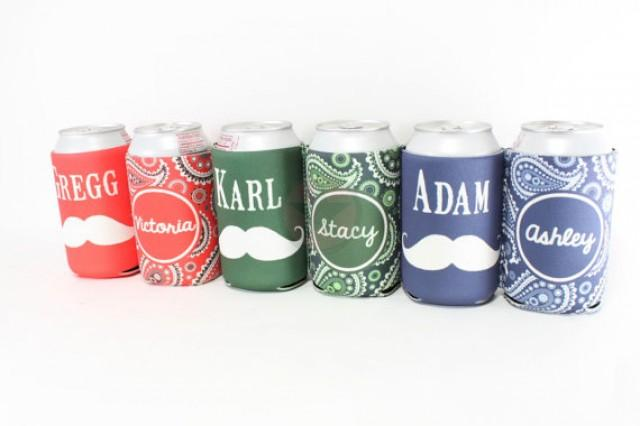PERSONALIZED BRIDESMAID GROOMSMEN Gifts Wedding Favors Wedding Gifts Beer Can Insulators Great