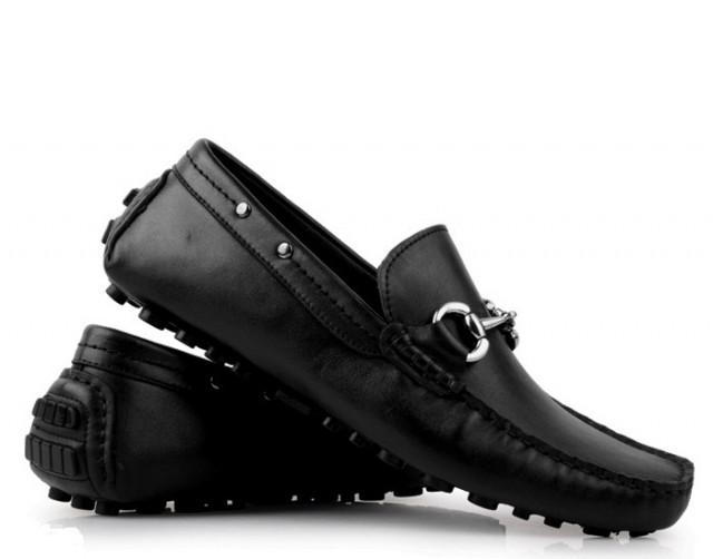 38c472c29e4b8 wedding photo - LIFE STYLE Mens Black Leather Horsebit Driving Loafers  Pebble Shoes