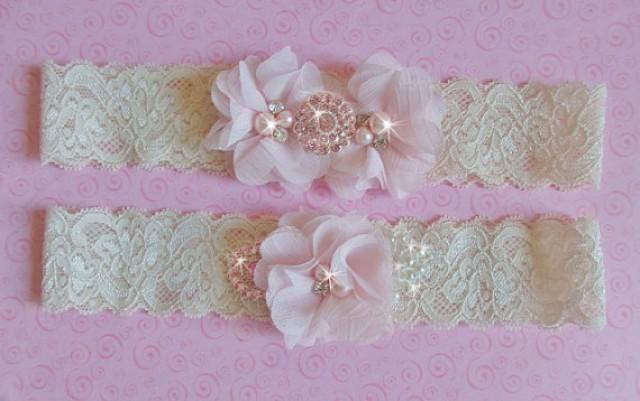 Wedding Lingerie Ivory Blush Wedding Garter Set Wedding Garter Meaning White Bridal Garter