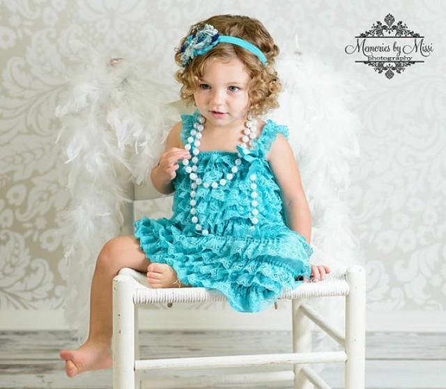 wedding photo - Flower girls dress- China Jade lace Dress, Stunning  blue dress,Girls dress, Birthday dress, Blue dress, toddler dress, dress,wedding dress