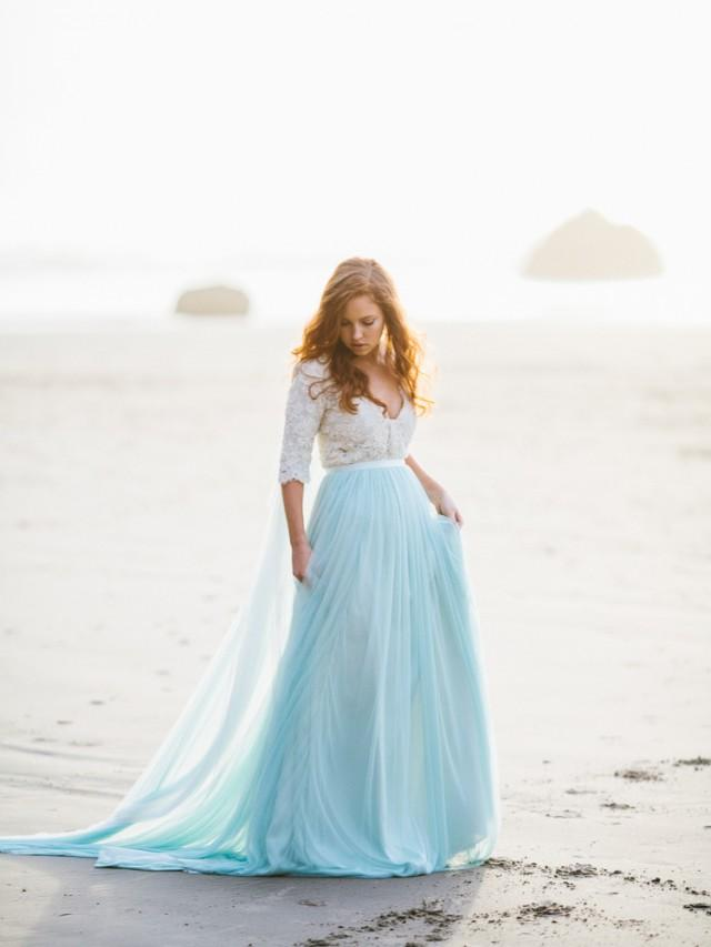Ethereal and romantic oregon coastline bridal inspiration for Romantic ethereal wedding dresses