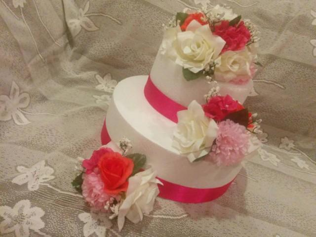 silk flower cake topper wedding cake decorations floral wedding cake topper 2278070 weddbook. Black Bedroom Furniture Sets. Home Design Ideas