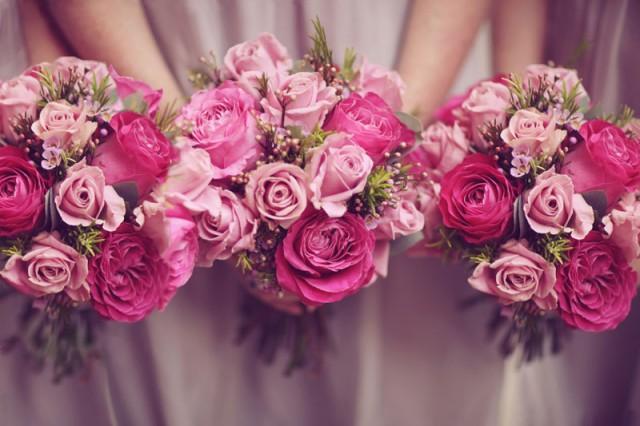 wedding photo - Pink flowers