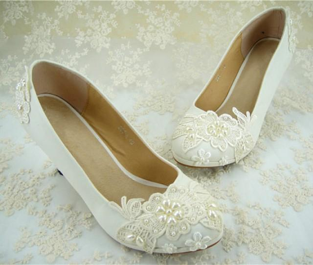 flat lace bridal shoes - photo #26