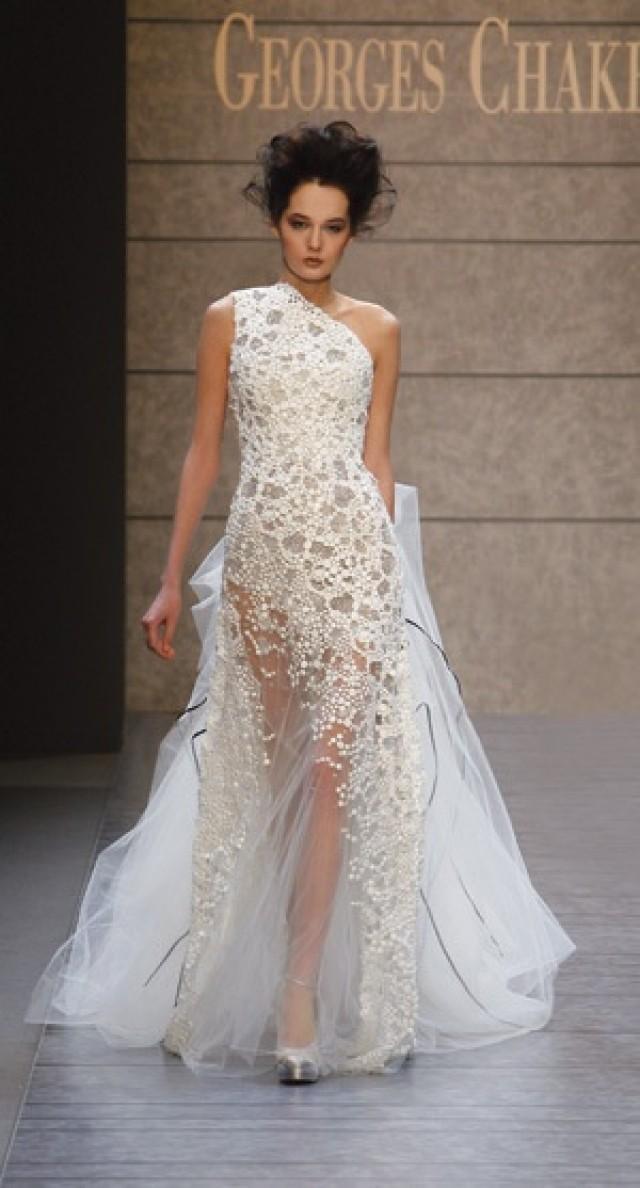 One Shoulder Strap Wedding Dress Inspiration 2280155 Weddbook