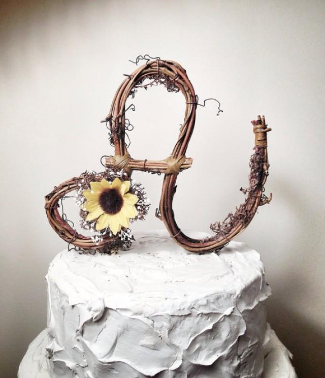 Cake - Letter A Shabby Chic Wedding Cake Topper #2280377 ...