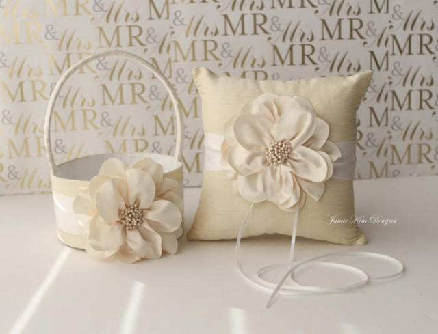How To Make A Flower Girl Basket With Fabric : Ring bearer pillow flower girl basket custom made to