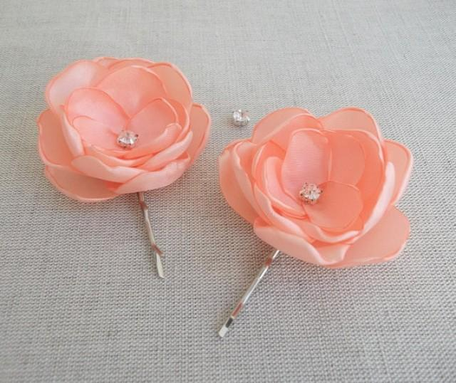 peach pale orange coral small flowers in handmade bridal