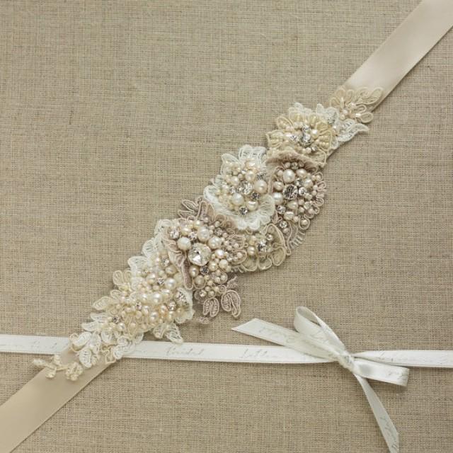 Wedding dress belt bridal belt wedding dress belts sashes for Belt for lace wedding dress