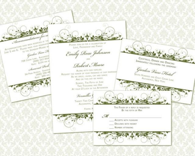 diy wedding invitation template set 5x7 invitation enclosure cards 2281750 weddbook. Black Bedroom Furniture Sets. Home Design Ideas