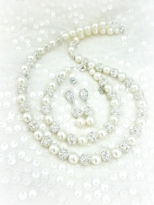pearl bridal jewelry set full jewelry set necklace