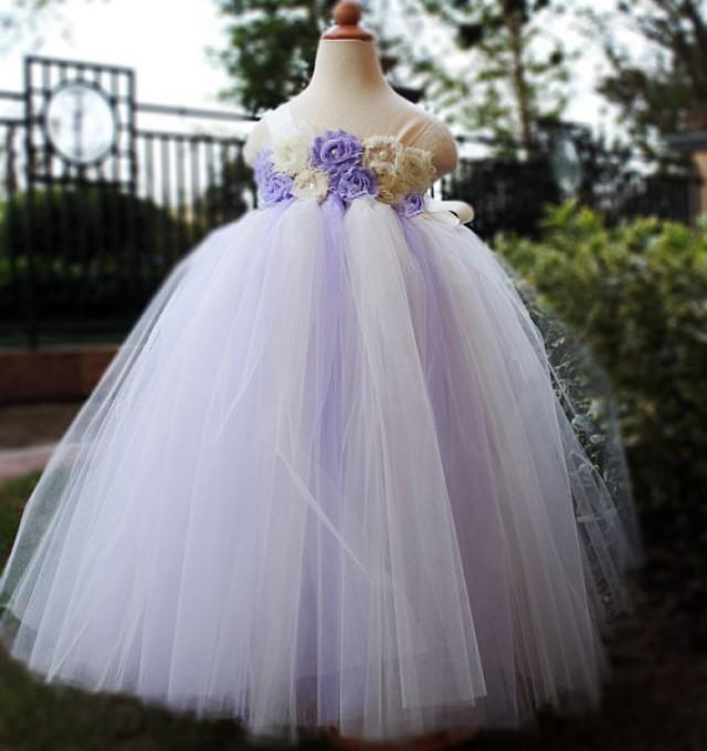 Lilac Flower Girl Dress Party Dresses Tutu Dress Baby