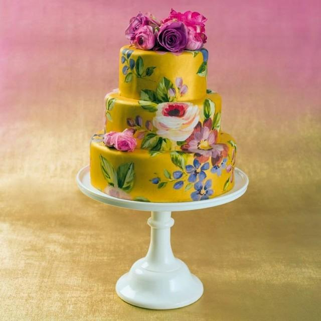 Hand Painted Individual Wedding Cakes