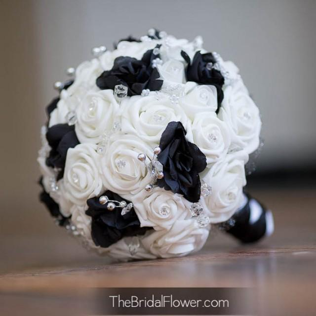 Black White And Yellow Flower Bouquets For Weddings