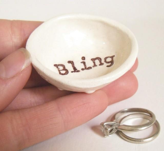 bling ring dish for wedding gift bridal shower gift for